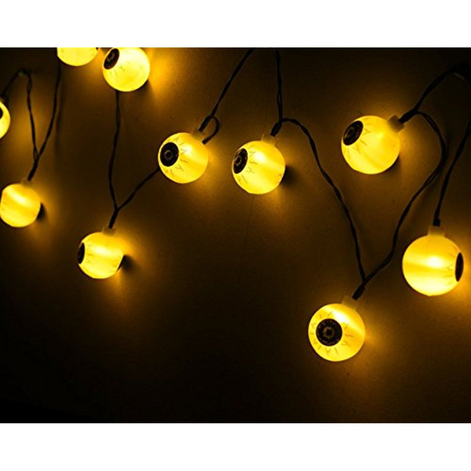 Outdoor Lichterkette Lampions Halloween Ghost Eyes String Lights Cool Solar Lights For