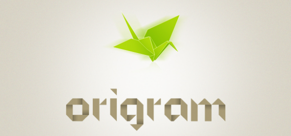 Origram Type | The simplicity and geometric forms that origami figures are constructed from are perfect details to create amazing logos or typefaces #typography #free #fonts