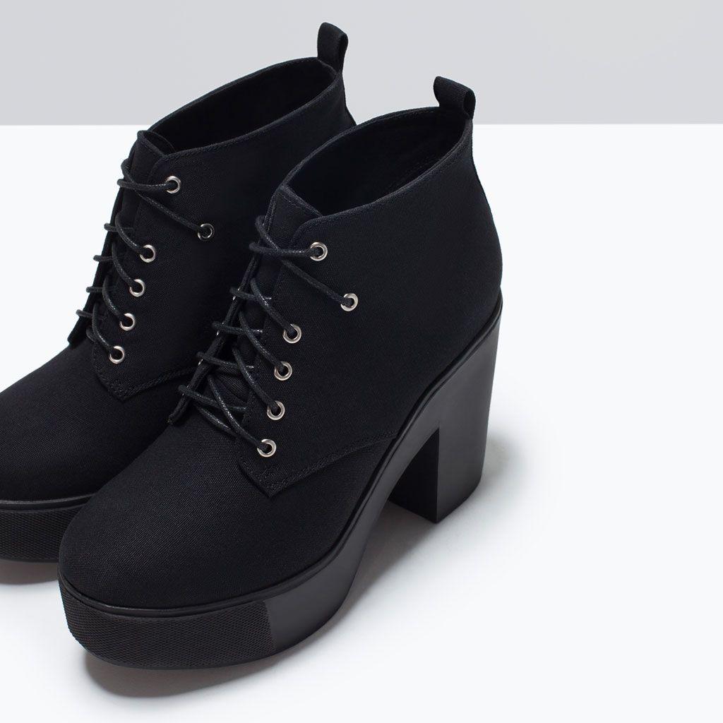 Botki Na Platformie Buty Trf Obuwie I Torby Zara Polska Boots Platform Ankle Boots Zara Boots