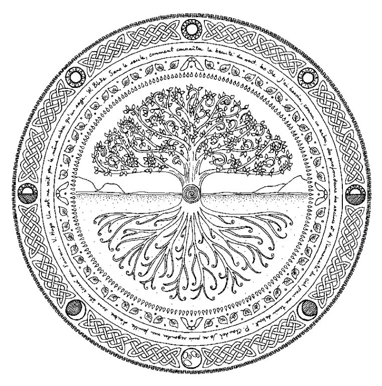 mandalas doodle zen et mandalas tatouage tatouage arbre de vie et arbre tatouage. Black Bedroom Furniture Sets. Home Design Ideas