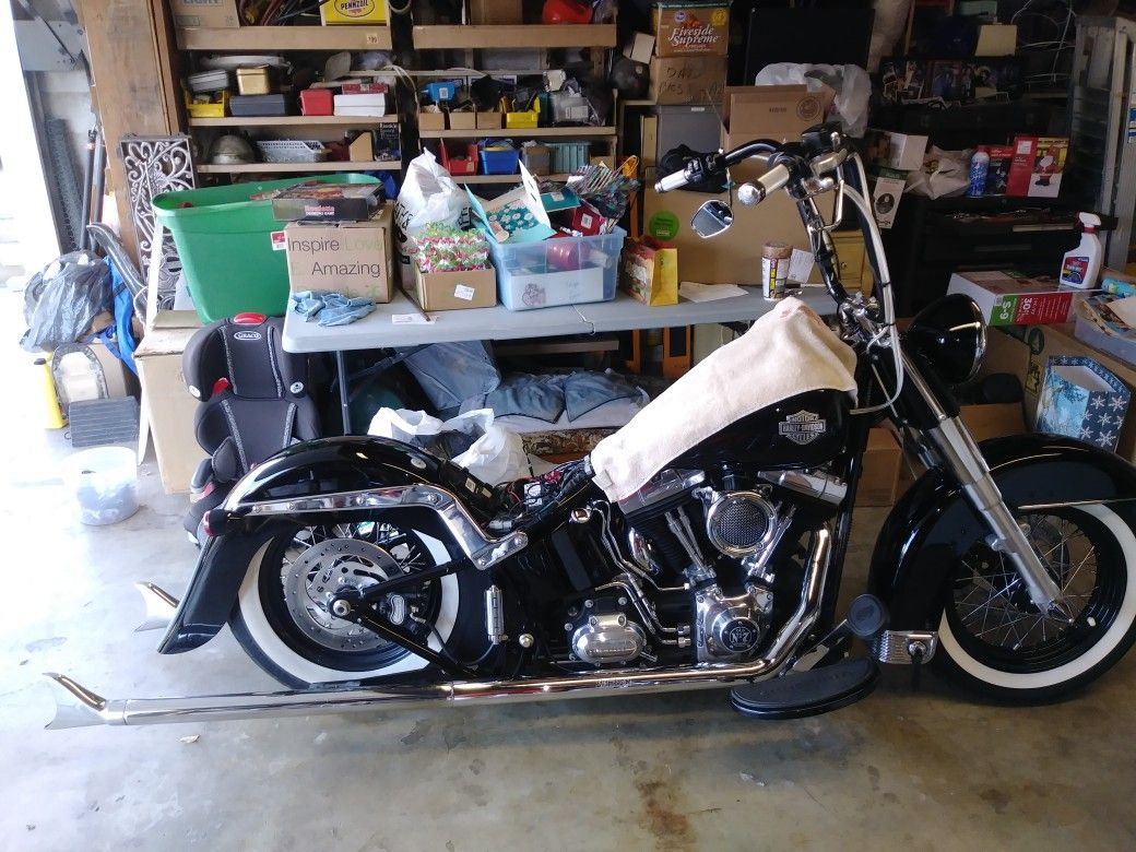 Softail slim fixing legends air ride system Harley