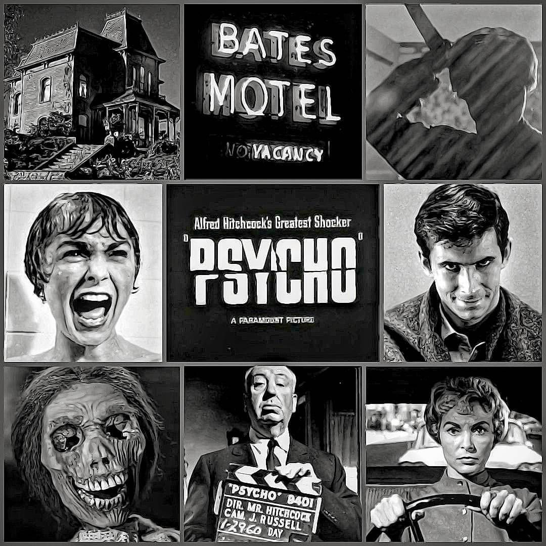 Psycho 1960 Norman Bates Movie Posters