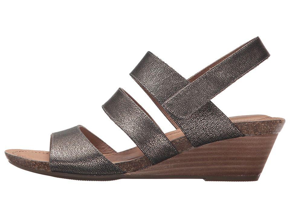 03e741967c74 Me Too Tora Women s Wedge Shoes Champagne Goat Metallic
