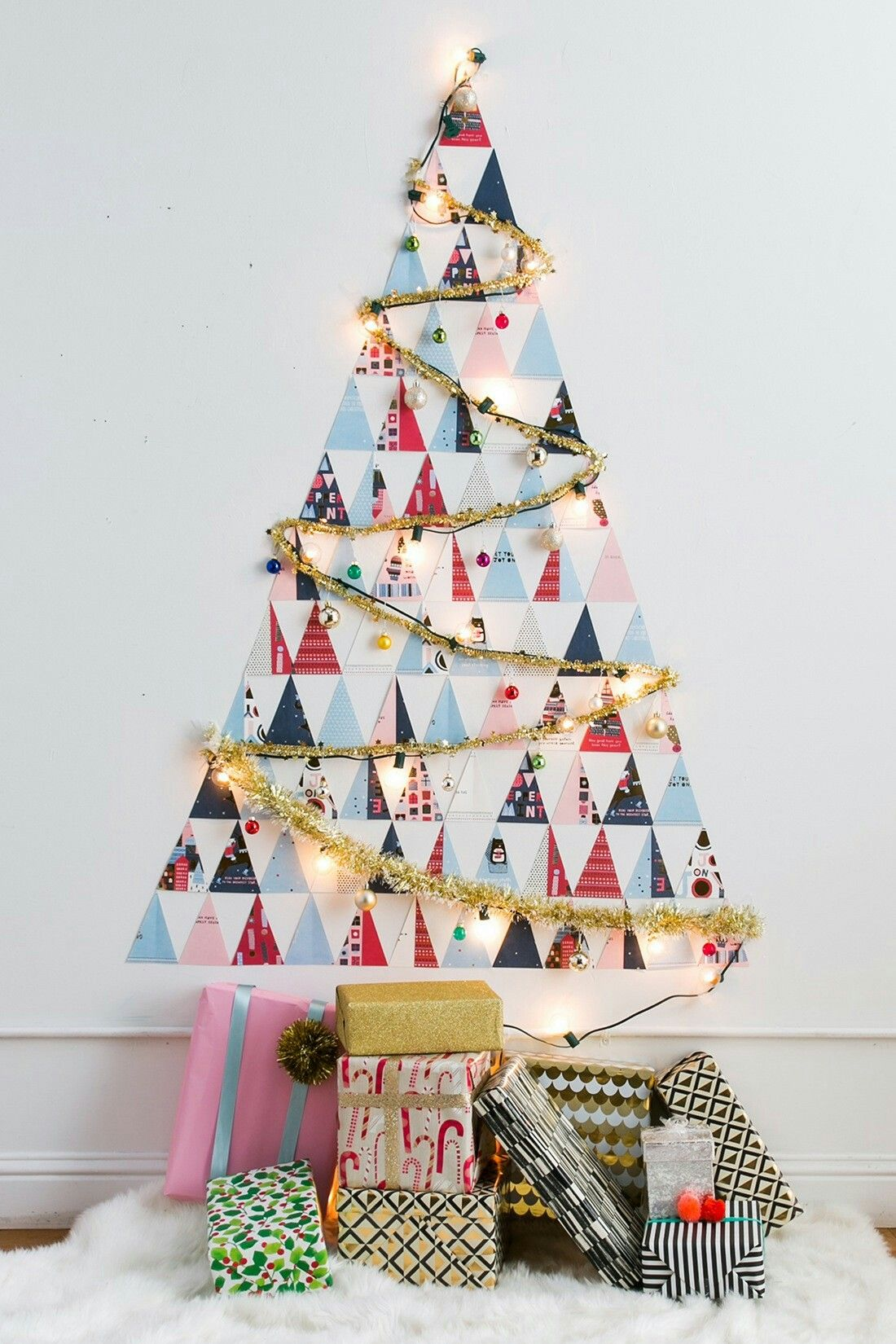Non traditional Christmas tree for small spaces | Holidays ...