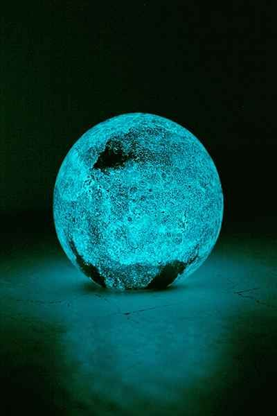 Glow in the dark celestial glass sphere salts glasses for Outer space urban design