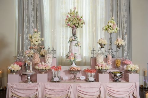 Blush And Pink Dessert Tablescape by The Mischief Maker