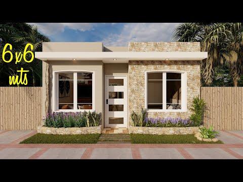 Casa De 6x6 Metros Plano De Casa De 36m2 Youtube Frente De Casas Sencillas Modelos De Casas Sencillas Modelos De Casas Bonitas