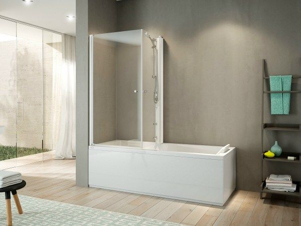 Vasca da bagno angolare con doccia MIX 70 by Jacuzzi