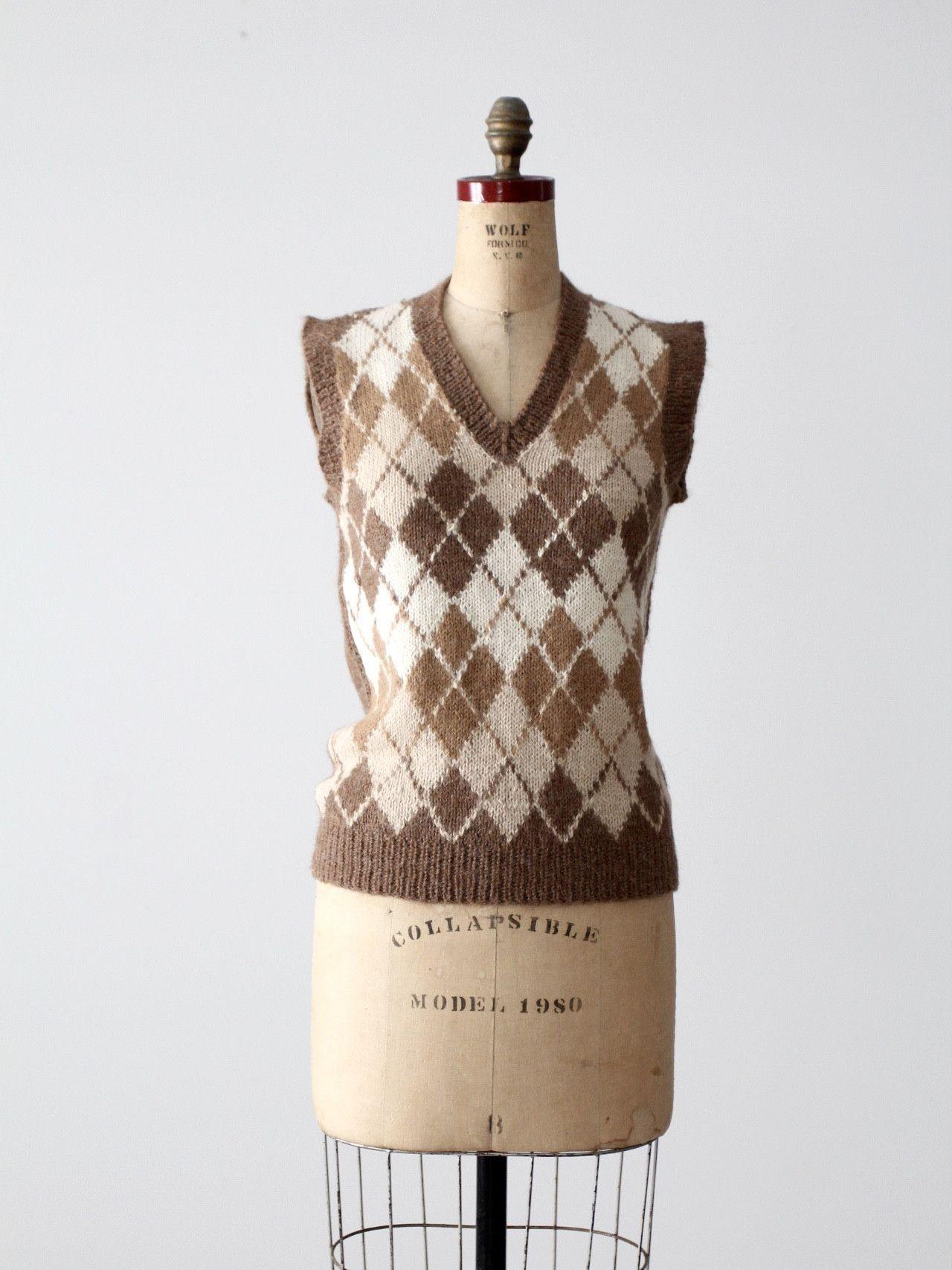 Vintage 70s MISSONI Mohair Blend Vest 1970s Neutral Sweater Knit Cropped Vest