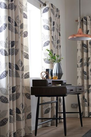 Buy Graphic Leaf Print Eyelet Curtains Online Today At Next Rep Of Ireland