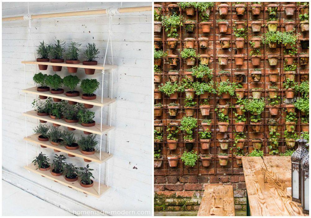 Jardín vertical para casas pequeñas