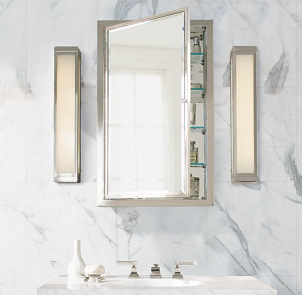 Framed Medicine Cabinet Cabinets Restoration Hardware Dimensions Small Overall 16½ W X 4 D 26¼ H Recessed Box 14 3¾ 24