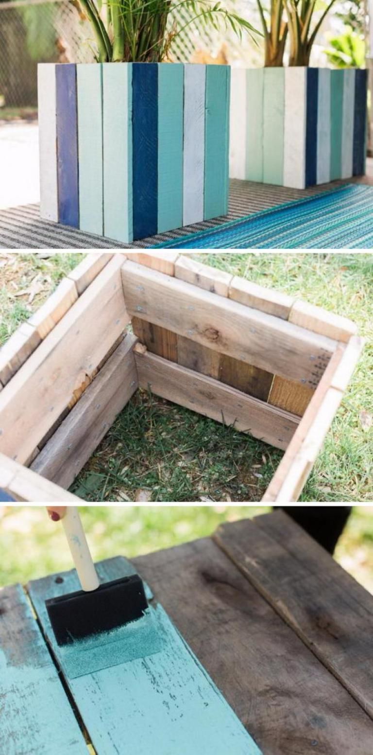 30 Best Diy Wood And Pallet Planter Boxes Idea Pallet Planter Box Wood Pallet Planters Flower Pots Outdoor