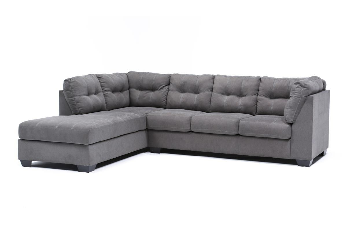 Excellent Maier Charcoal 2 Piece Sectional W Sleeper Left Facing Ibusinesslaw Wood Chair Design Ideas Ibusinesslaworg