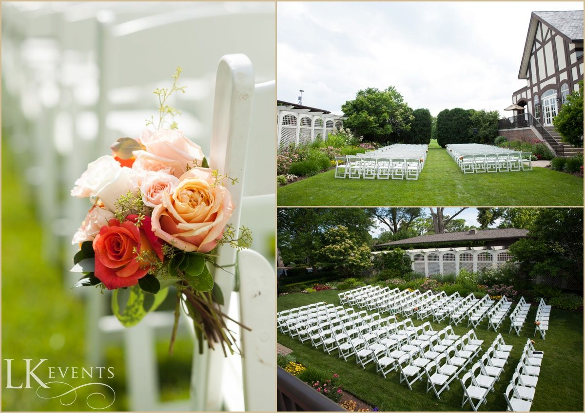 This Hinsdale Golf Club Wedding Featured Lovely White Pretty Peach And Vibrant Turquoise Fl Arrangements Adding A Pop Of Color