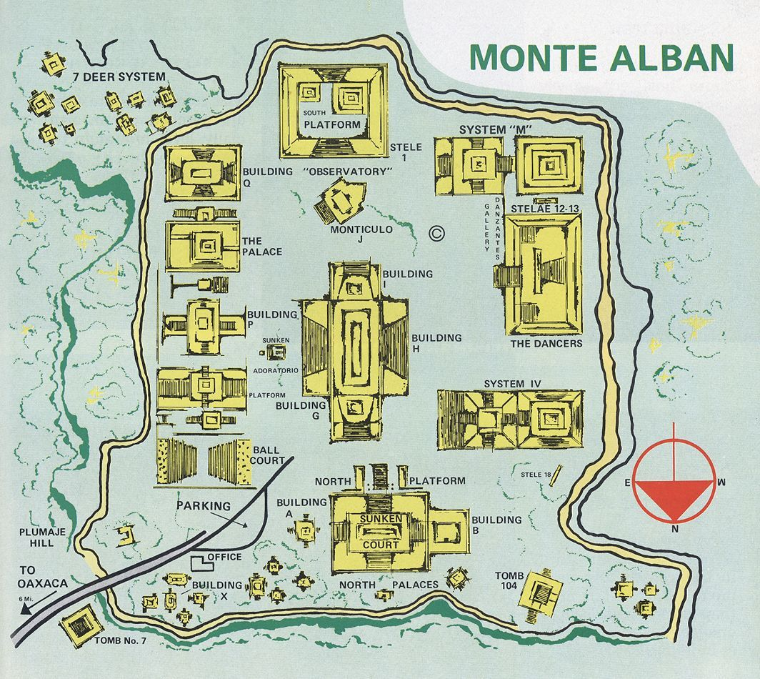 Map of Monte Alban | A 1500 in 2019 | Oaxaca, Mayan ruins ... Aztec Yaxchilan Jicaque Map Of Mexico on