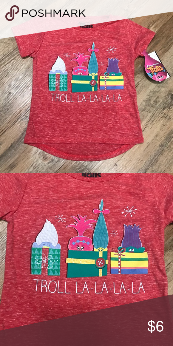 c30512df6eb0 Kids troll shirt Brand new with tags kids troll Christmas shirt. Size 2T  and 3T available dreamworks Shirts & Tops Blouses