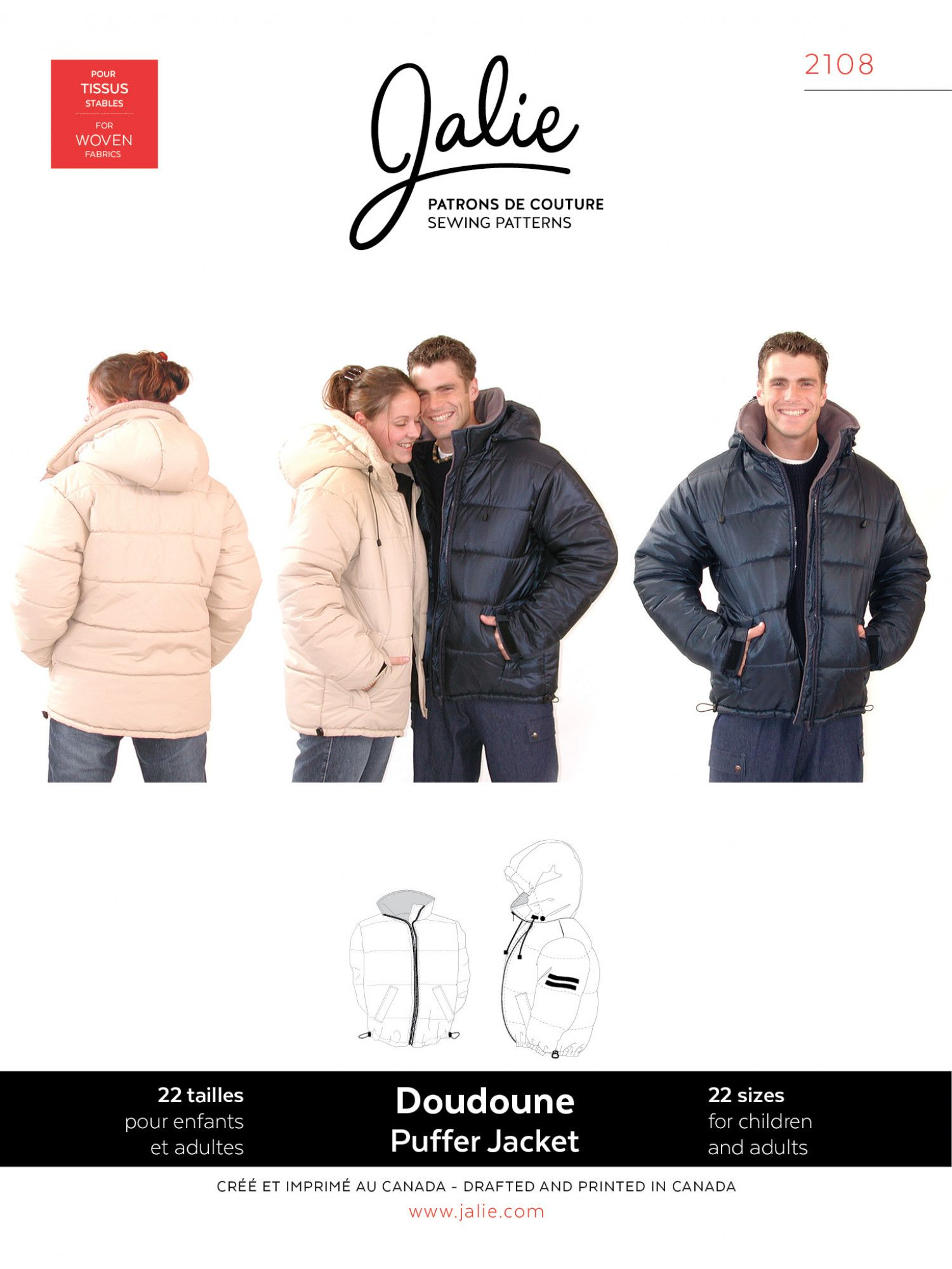 Doudoune jacket pattern patron de couture and patterns doudoune jeuxipadfo Gallery