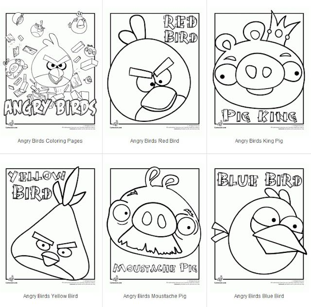 Free angry birds coloring pages Kids Pinterest