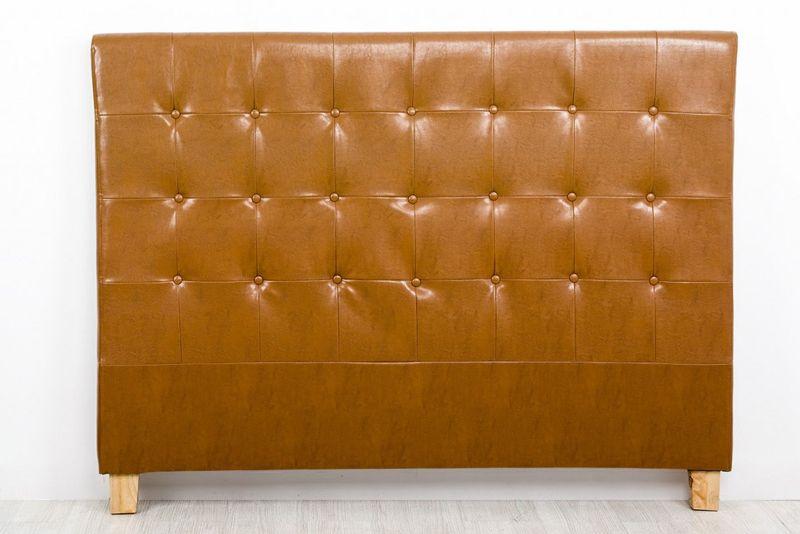Cabecero en madera/piel 160 - Cabecero en madera tapizado en piel en ...