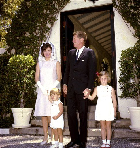 JFK and Jackie and John Jr. and Caroline.. A Young Family, A New Style For The White House
