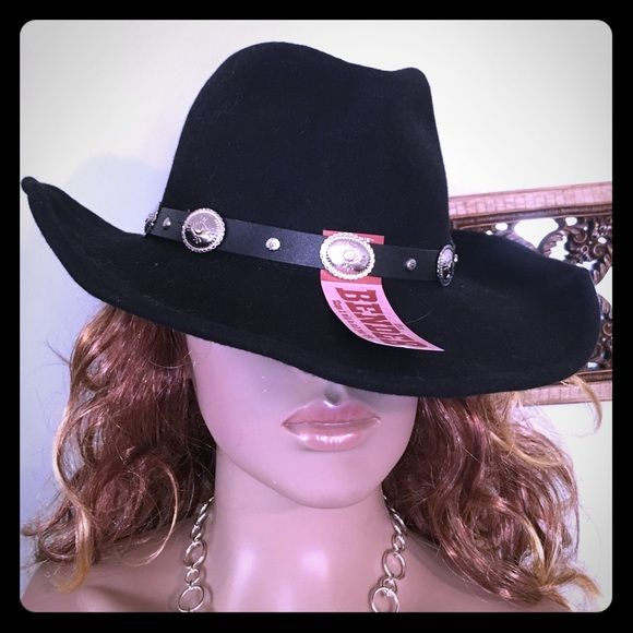 813534cfe3bfe Western Express INC BENDER shape it cowboy hat BLK Completely awesome and  brand-new with