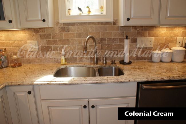 similar granite backsplash idea - Kitchen Countertops And Backsplash Ideas