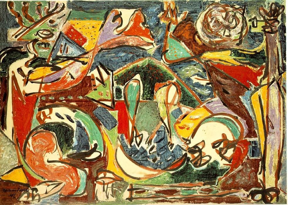 'The key', 1946 by Jackson Pollock (1912-1956, United States)
