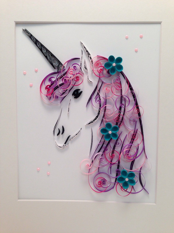 Quilling Art   Unicorn   Framed Art   Pinterest   Arte enmarcado ...