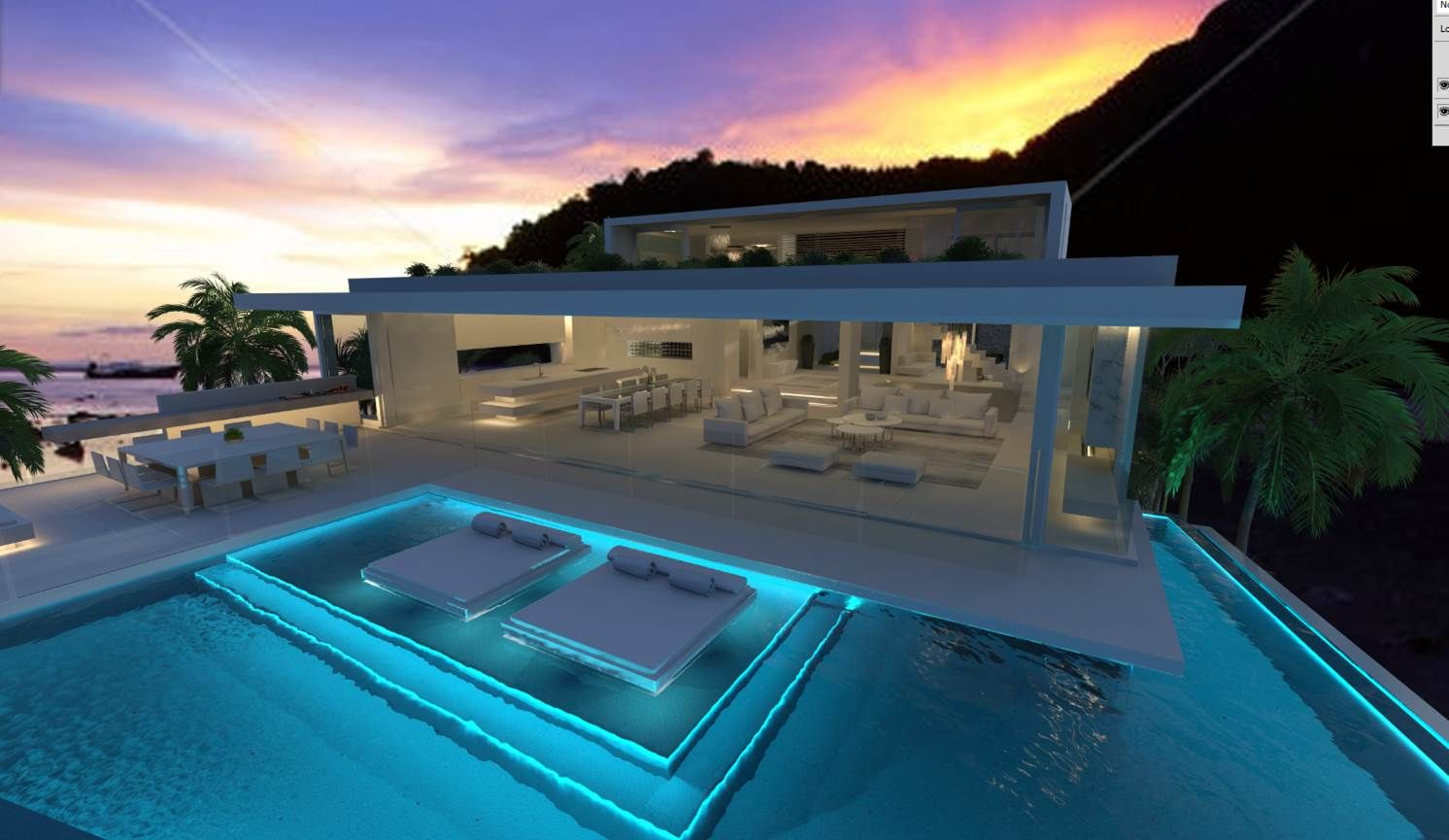 New chris clout design modern beach house in sunshine beach interiors lighting pool