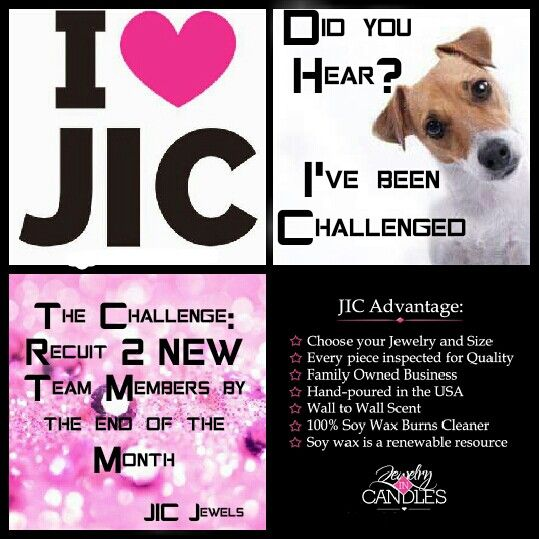 I've been challenged!  Whos intetested in learning more about JIC and joining my team?  www.jewelryincandles.com/store/a-jessup