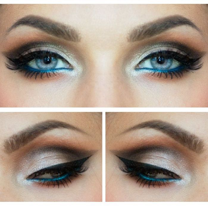 Add Blue Liner To The Waterline Of A Neutral Eye Makeup To Open Up