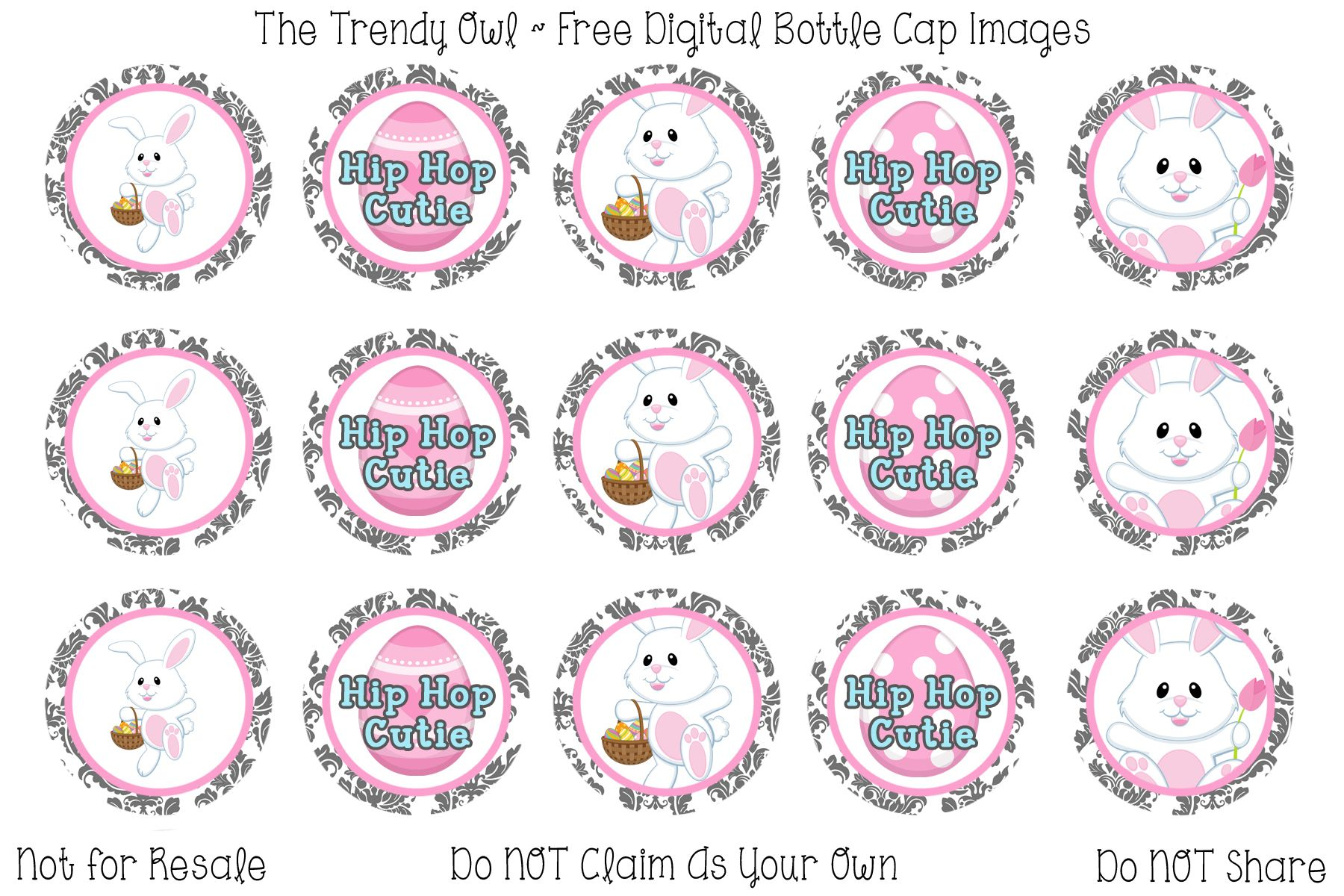 Easter <3 Retired images uploaded as freebies! Enjoy! ~ FREE Digital Bottle Cap Images!! https://www.facebook.com/thetrendyowlUS http://www.thetrendyowl.com