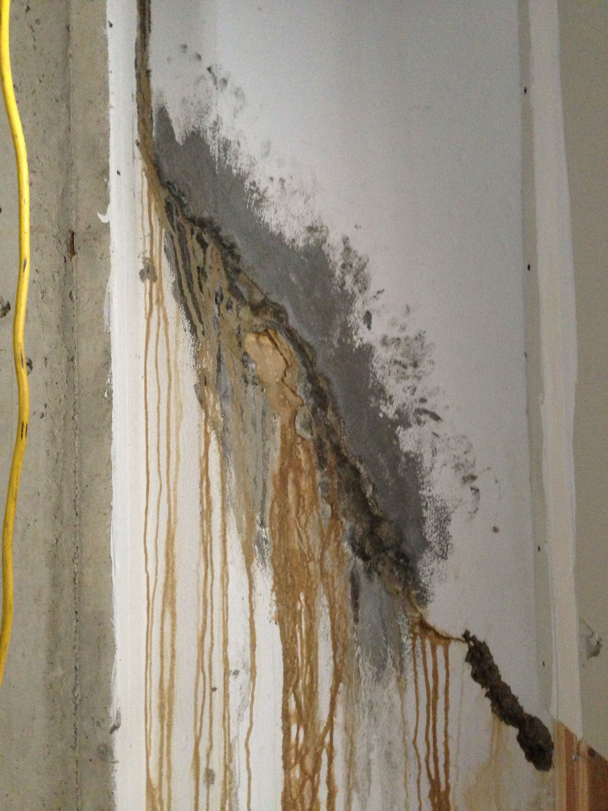 Poured Concrete Basement Wall Crack And Leaking In Saline