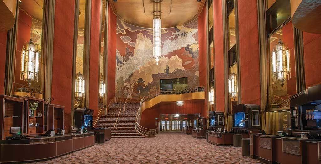 Art Deco interiors of New York's Radio City Music Hall