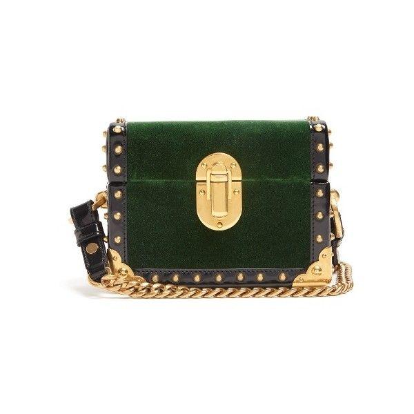Prada Treasure Trunk mini velvet box bag (7175 TND) ❤ liked on Polyvore  featuring bags 4818925be2a6c