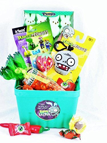 Plants vs zombies toy and candy easter gift basket your brains are plants vs zombies toy and candy easter gift basket your brains are egg cellent negle Choice Image