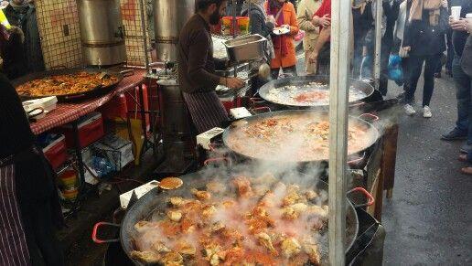 Paella in London#Portobello Market.