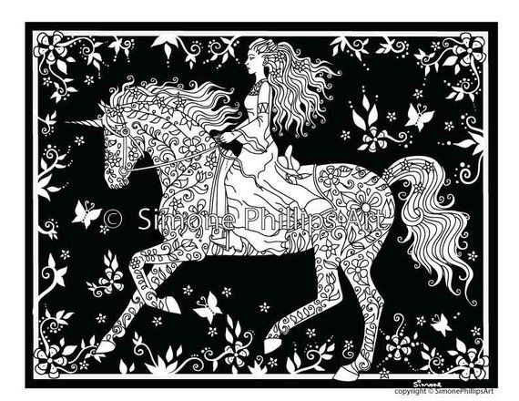 Midnight Magic Fairy Queen | Horse coloring pages, Fairy ...