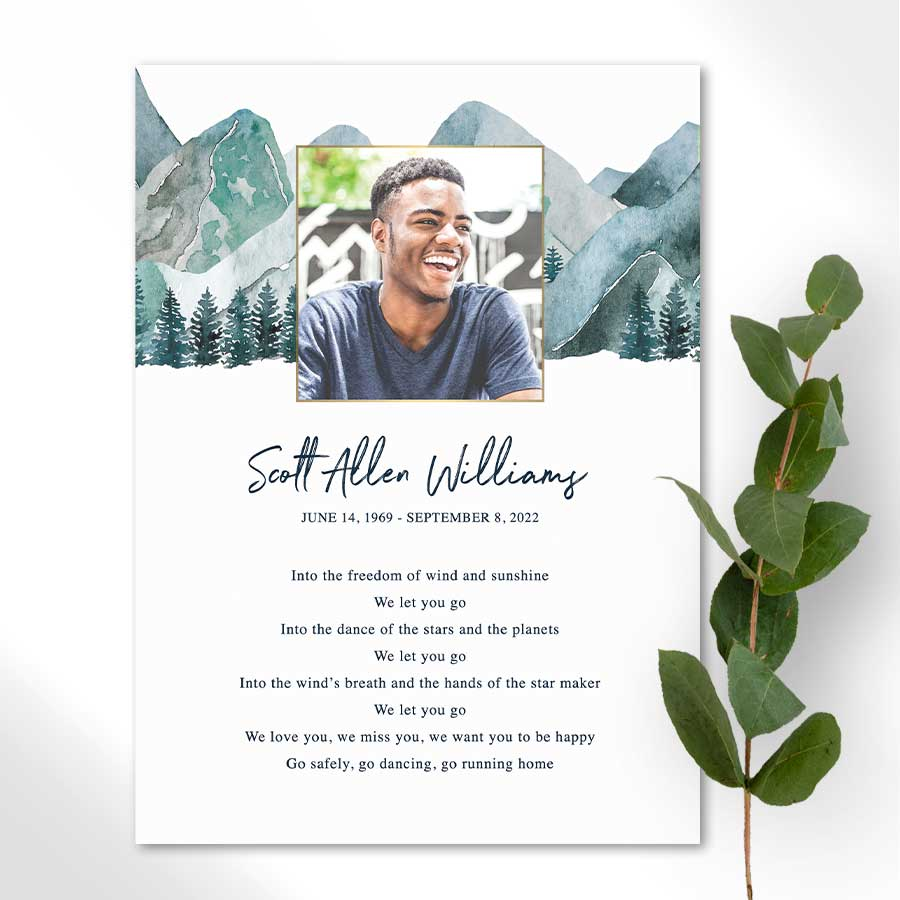 Personalized Funeral Mass Cards With Photo Funeral Guest Book Memorial Cards For Funeral Funeral