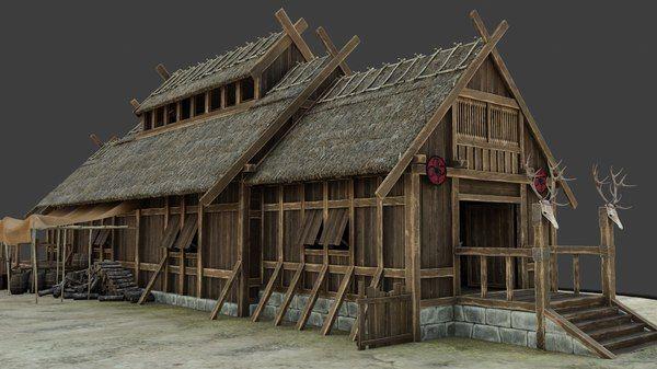 3D me val viking house 1 model TurboSquid