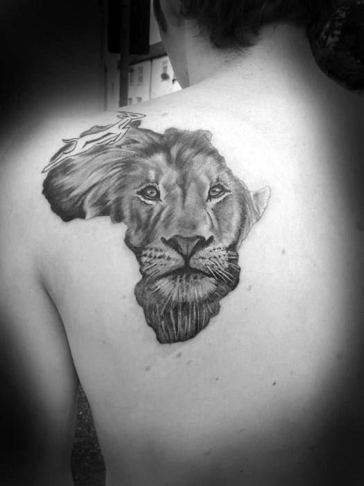 fd4964d95 50 Lion Shoulder Tattoo Designs For Men - Masculine Ink Ideas ...
