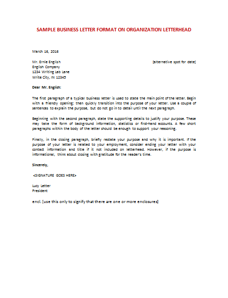 business organization letter format | letter template | Pinterest ...