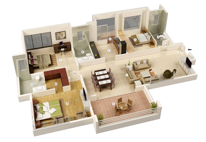 Astonishing 3 Bedroom House Plans Family House Plans Bedroom House Plans House Floor Plans