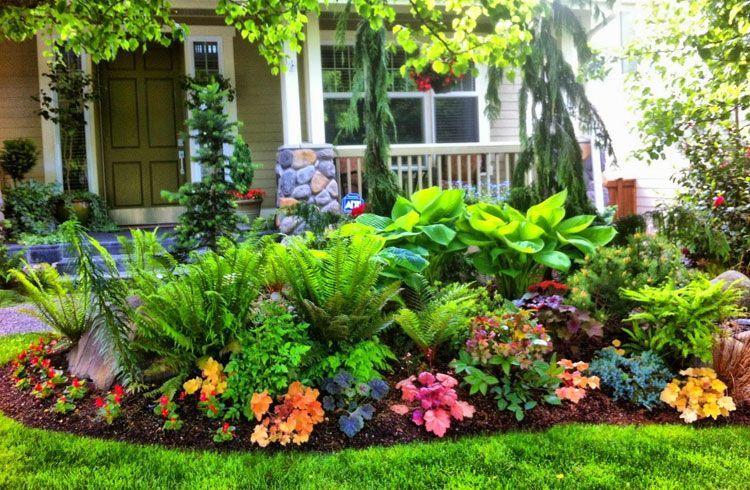 Colorful Front Yard Garden Plans In 2020 Front Yard Landscaping Design Porch Landscaping Shade Garden Design