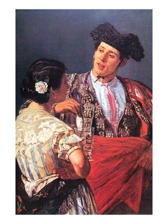 Toreador with Young Girl  por Mary Cassatt