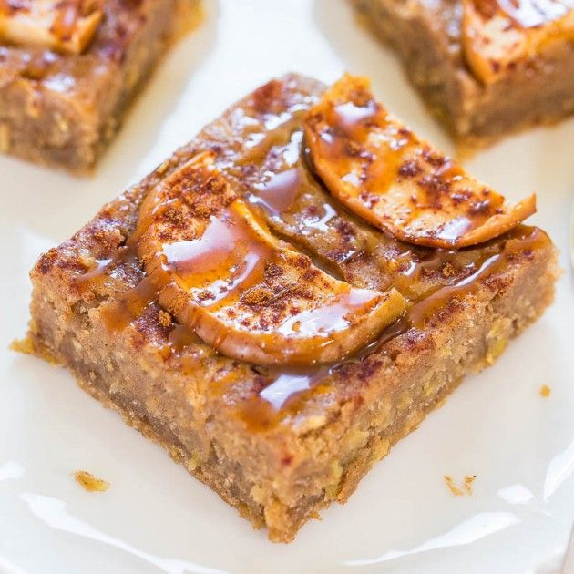 Caramel Apple Cinnamon Bars