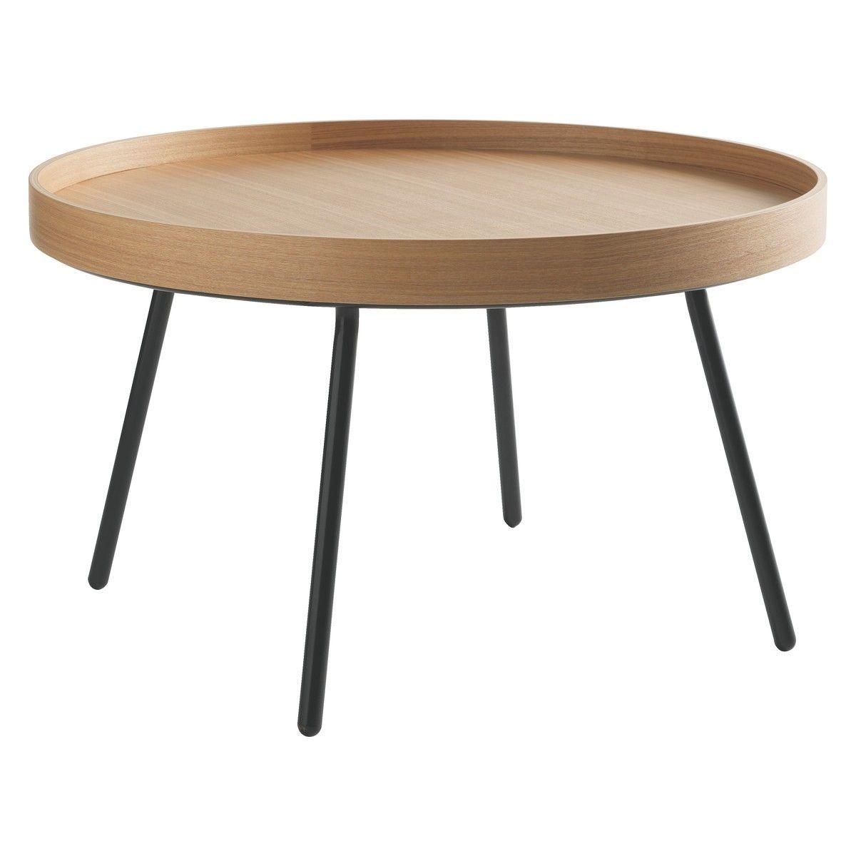 Larke Round Oak Tray Coffee Table Now At Habitat Uk