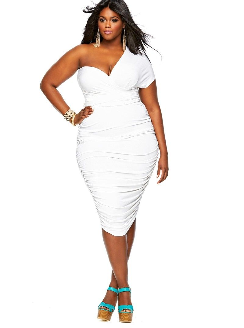 All white plus size dresses with sleeves