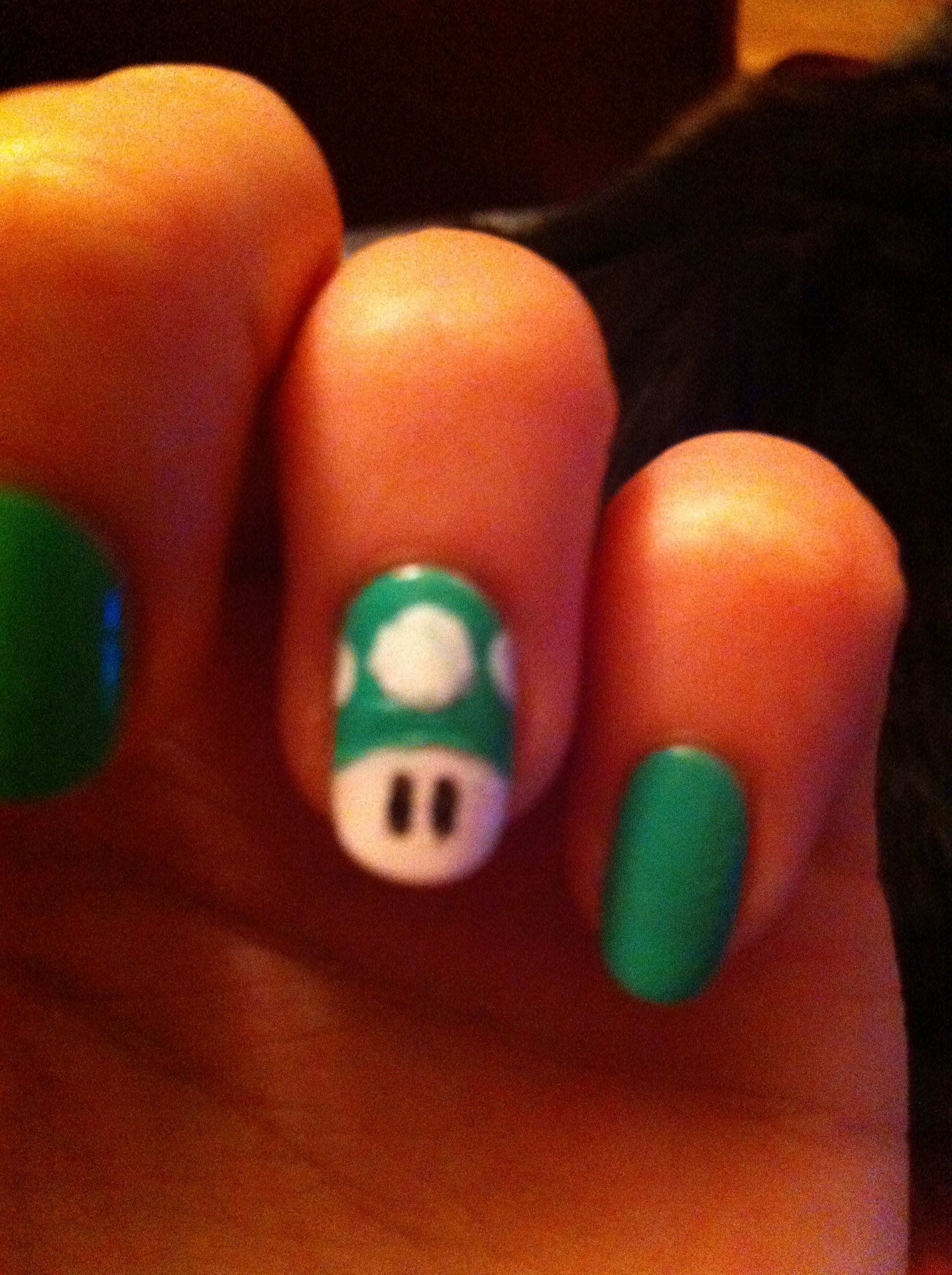 Super Mario nail art - toad :) - Perfectly Polished | Pinterest